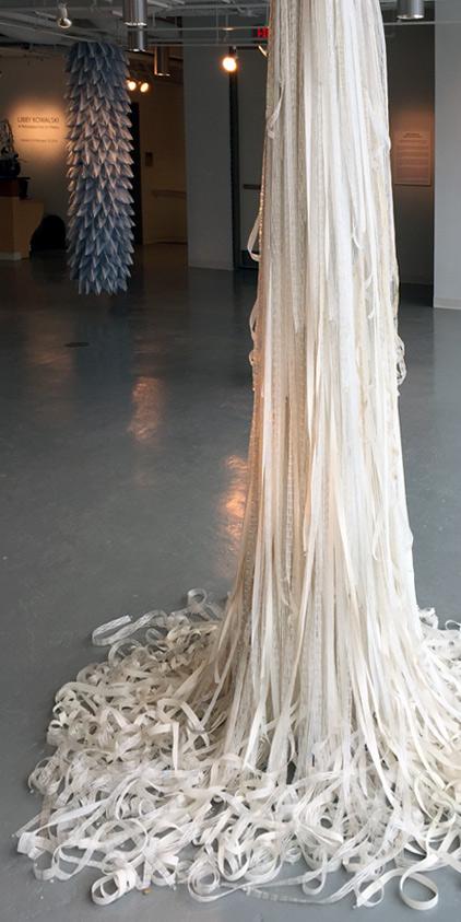Libby Kowalski Artist Repurposed Fabric Bridal Falls