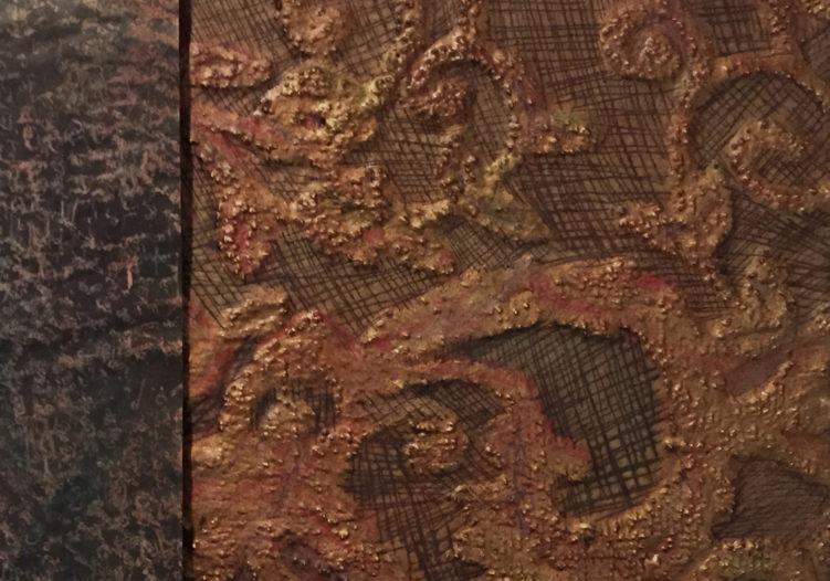 Scoring Detail of Mixed Media Artwork - Kowalski